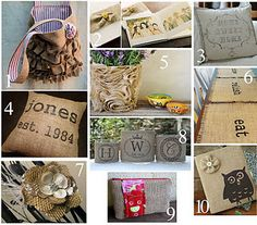 WOW, now even more uses from this bolt of burlap I bought...  I can't wait til my craft day...