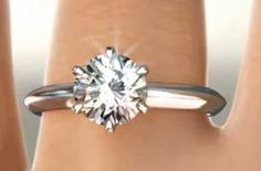 Handmade Six Prong Knife-Edge Diamond Solitaire Engagement Ring | bridesandrings.com