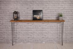 Narrow Rustic Console Table with Hairpin Legs, Slimline Hall Table, Narrow Rustic Hallway Table,Hallway Shelf/Table*FREE Leg Protectors* Narrow Hallway Table, Rustic Hallway Table, Hallway Shelf, Rustic Console Tables, Narrow Console Table, Dinning Table, Entryway Tables, Table Shelves, Kitchen Shelves