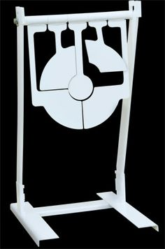 American Security Gravity Spinning Bullseye Target lets you know know EXACTLY where you're shooting and it's PORTABLE. Shooting Bench, Shooting Guns, Shooting Range, Metal Projects, Welding Projects, Metal Targets, Metal Shooting Targets, Range Targets, Nerf