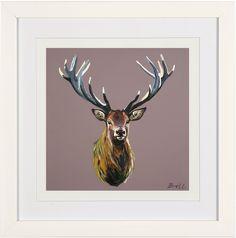 Stag print in a  25cm x 25cm in a black or white frame www.bretthudsonart.com   £25.00