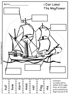 Free! Label the Mayflower: A Writer's Workshop Labeling Activity