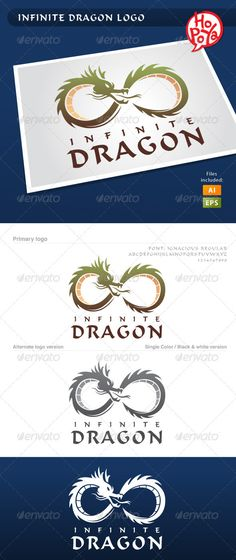 Infinite Dragon Logo #GraphicRiver Infinite Dragon logo template for your business works. Layered files, 100% vector. Font used: Ignacious Regular You can find it here: .fontemple /free-download/5299-Ignacious-Regular.html Files are EPS8 and AICS2 compatible and editable. Created: 19March12 GraphicsFilesIncluded: VectorEPS #AIIllustrator Layered: Yes MinimumAdobeCSVersion: CS2 Resolution: