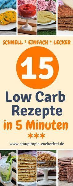 Hol dir jetzt die super schnellen Low Carb Rezepte für Frühstück, Mittag, Abendessen und Süßigkeiten, für die du nicht mehr als 5 Minuten Zubereitungszeit benötigst auf www.staupitopia-zuckerfrei.de #schnellerezepte #einfacherezepte #lowcarbrezepte #5minutenrezepte #lowcarbfrühstück #lowcarbsüßigkeiten #lowcarbabendessen #staupitopia