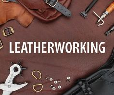 Leatherworking Class Learn the the fundamental skills you need to start working with leather by making simple accessories you can customize! In this class you'll be introduced to a wide range of leath Leather Art, Sewing Leather, Leather Pattern, Custom Leather, Leather Tooling, Leather Jewelry, Tan Leather, Leather Purses, Leather Crafting