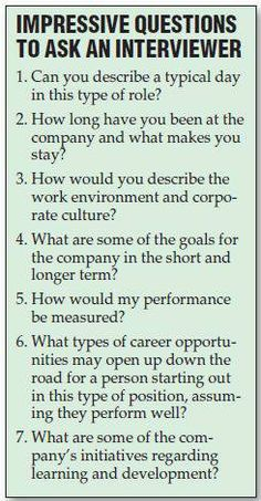 questions to ask during the interview
