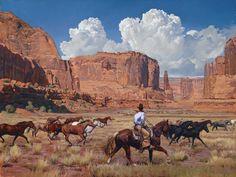 Mark Maggiori, The Remuda, oil, 30 x 40, Maxwell Alexander Gallery.
