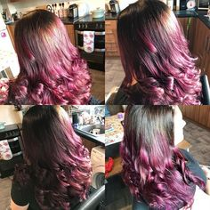 No filter needed!! #pagenta #magentahair #purplehair