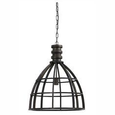 hanglamp zwart industrieel IVY metaal - Dutch Home Label