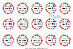 closets are for clothes free bottle cap image sheet