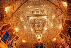looking up in the temple at night by mr science, via Flickr
