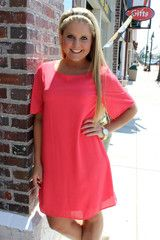 Hopelessly Devoted Dress - Coral