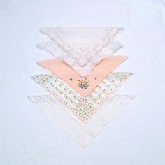 Vintage Handkerchief Five Imperfect Lot Sewing by plattermatter2