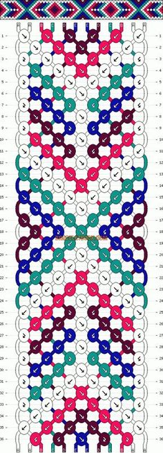 Normal Friendship Bracelet Pattern #13254 - BraceletBook.com