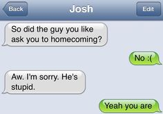Boooiiiiii (not sure if it goes w this board but whatever) - Funny Troll & Memes 2019 Funny Texts Jokes, Text Jokes, Funny Texts Crush, Funny Text Fails, Cute Texts, Funny Text Messages, Stupid Funny Memes, Funny Relatable Memes, Haha Funny