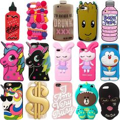 3D Cute Soft Silicone Phone Protective Case Back Skin For Iphone 5S/Se 6 7 8Plus