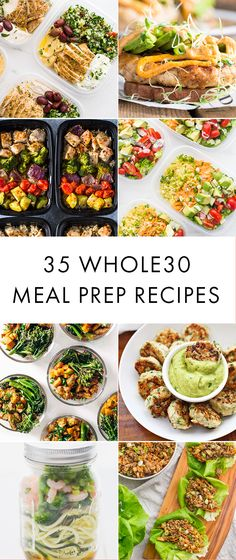 These Whole30 meal prep recipes will make your Whole30 lunches and Whole30 breakfasts SO much easier. Instead of having no idea what to do for lunch, these Whole30 meal prep recipes will leave you stoked about breakfast and dinner! #whole30 #whole30recipes #mealprep #mealprepsunday #whole30approved