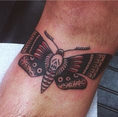 Traditional style #deathmoth #traditional #tattoo