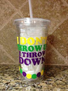 Fun Mardi Gras cup on Etsy, $15.00