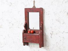 View our Shabby Chic Mirror from the collection Repurposed Furniture, Vintage Furniture, Shabby Chic Mirror, Vintage Mirrors, Interior Accessories, Candle Sconces, Simple Designs, Teak, Hardwood