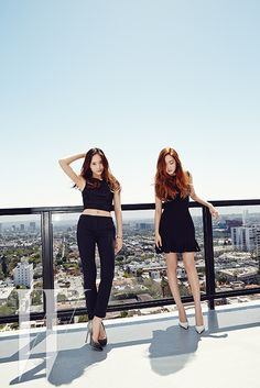 SNSD Jessica and f(x) Krystal - W Magazine June Issue '14