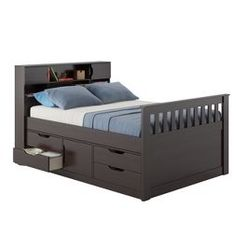 Full Kids Bed With Storage Black - CorLiving