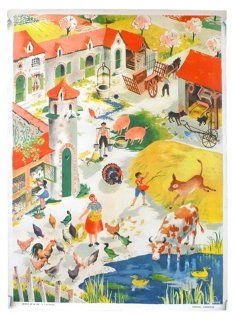 French Farm Courtyard  Poster