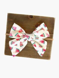 Watermelon Bow / Baby Girl Headband/ Toddler Headband/ Nylon/