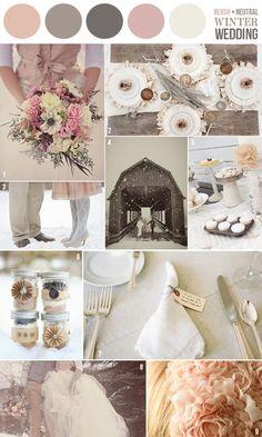 blush neutral winter wedding scheme :)
