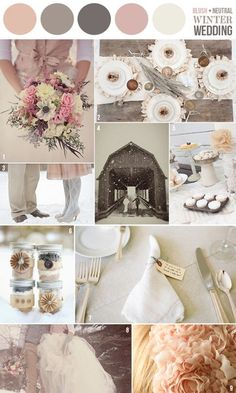 blush neutral winter wedding scheme :)
