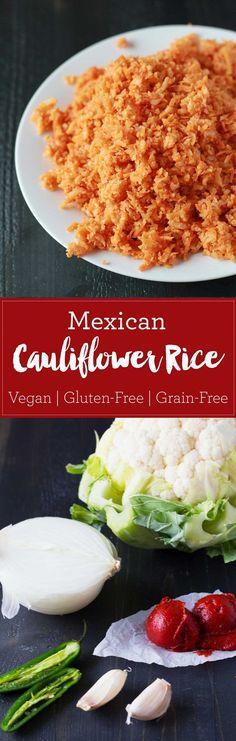 Mexican Cauliflower Rice (Coliflor Arroz Rojo) | eatwithinyourmean...