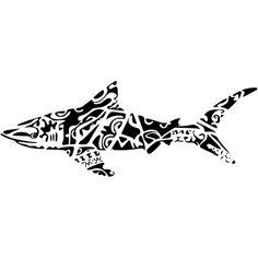 Polynesian shark tattoo