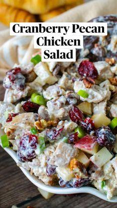 Pecan Chicken Salads, Chicken Salad Recipes, Gluten Free Chicken Salad Recipe, Chicken Salad Healthy, Salad With Chicken, Healthy Broccoli Salad, Rotisserie Chicken Salad, Cranberry Chicken, Best Salad Recipes