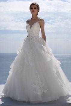 Mark Lesley Bridalwear 7428 - Mark Lesley Bridalwear Dream Wedding Dresses, Designer Wedding Dresses, Bridal Dresses, Wedding Gowns, Sabrina Neckline, Illusion Neckline, Beaded Lace, Bridal Boutique, Bridal Collection