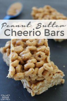 Peanut Butter Cheerio Bars Recipe! Easy Homemade Snack Recipe or Breakfast Bar!