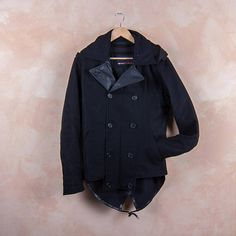 Wool Coat Parka Style Made in Italy by Frav Torino