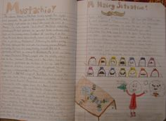 "My wonderful 7th grader Mackenzie wins one of my ten ""Mr. Stick of the Year"" writer's notebook awards with this charming little story about the diabolical thievery of the world's mustaches.  THANKS, Mackenzie...your creativity is amazing.  Check out my Mr. Stick resources at my website: http://corbettharrison.com/Mr_Stick.html"