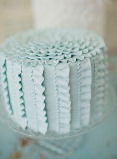lovely pastel ruffled buttercream wedding cake