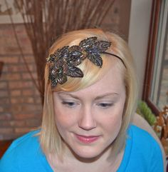 Brown Beaded Sequin Fairy Headband Handmade for by JillsBoutique, $34.00