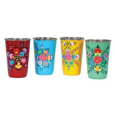 Hand-Painted Tumblers Set Of 4 now featured on Fab.