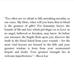 Becca Lee Segovia Amil, Female Poets, Morals, Becca, Poetry, Learning, Qoutes, Life, Quotations