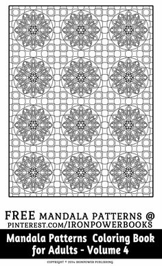 FREE Pattern Coloring Pages for Adults from the book Mandala Patterns Coloring… Blank Coloring Pages, Pattern Coloring Pages, Mandala Coloring Pages, Free Printable Coloring Pages, Coloring Sheets, Coloring Books, Mandala Pattern, Abstract Pattern, Mandala Artwork