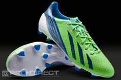 adidas Football Boots - adidas adizero F50 TRX FG SYN - Firm Ground - Soccer Cleats - Green Zest-Dark Blue-Joy Blue