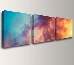 """ Atmosphere "" by The Modern Art Shop on Etsy. Three piece canvas triptych photo split. Available in lots of sizes."