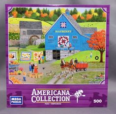 Americana Collection Mega Brand 500 Pc. Puzzle in Toys & Hobbies, Puzzles, Contemporary Puzzles | eBay
