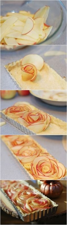 Rose Apple Tart ~ knowkitchen