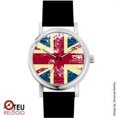 Mostrar detalhes para Relógio de pulso OTR BANDEIRA INGLATERRA LOC 004