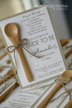 Rustic Kitchen Tea Invitation. Loved making these!!! Created by Antonella @miacollections