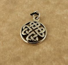 Sterling silver Celtic Knot Heart pendant charm by celtictreasures
