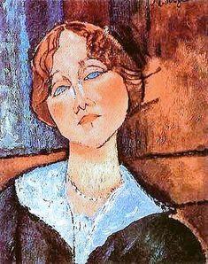 Probably not a genuine Modigliani, but nice Amedeo Modigliani, Modigliani Paintings, Italian Painters, Italian Artist, Paul Gauguin, Art Moderne, Famous Artists, Portrait Art, Beautiful Paintings